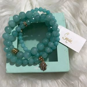 Sequin Peaceful Mint colored bracelets